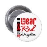 Llevo una cinta roja para mi hija pins