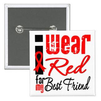 Llevo una cinta roja para mi mejor amigo pins