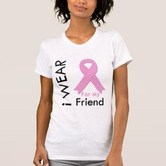 Llevo una cinta rosada para mi amigo camiseta