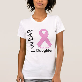 Llevo una cinta rosada para mi hija camiseta