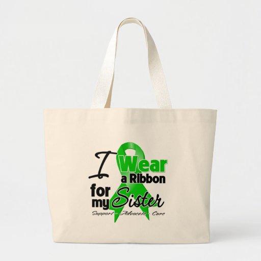 Llevo una cinta verde para mi hermana bolsa