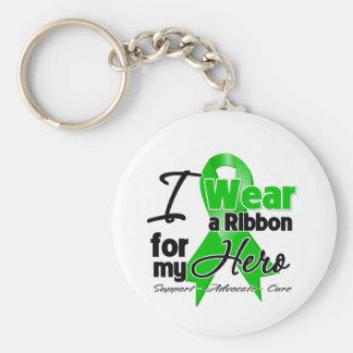 Llevo una cinta verde para mi héroe llavero personalizado