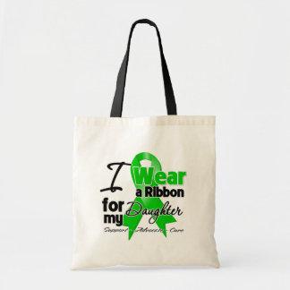 Llevo una cinta verde para mi hija bolsa tela barata