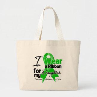 Llevo una cinta verde para mi hija bolsa tela grande