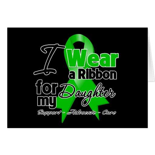 Llevo una cinta verde para mi hija tarjeta de felicitación