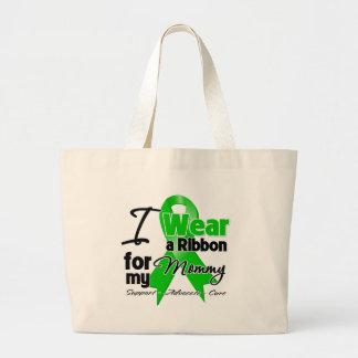 Llevo una cinta verde para mi mamá bolsa lienzo