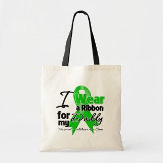 Llevo una cinta verde para mi papá bolsa tela barata