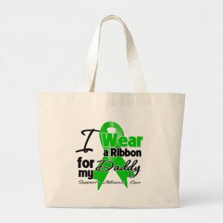 Llevo una cinta verde para mi papá bolsa tela grande