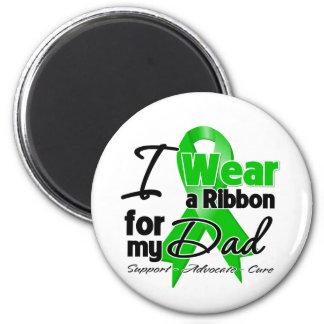 Llevo una cinta verde para mi papá imanes de nevera