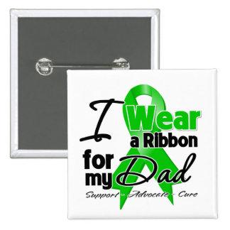 Llevo una cinta verde para mi papá pin cuadrado
