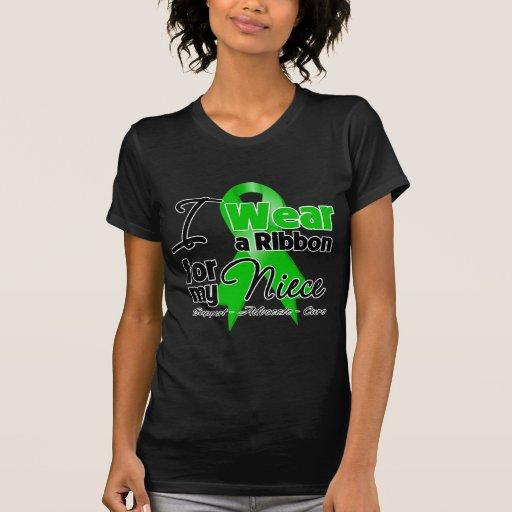 Llevo una cinta verde para mi sobrina camiseta