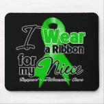 Llevo una cinta verde para mi sobrina alfombrillas de raton