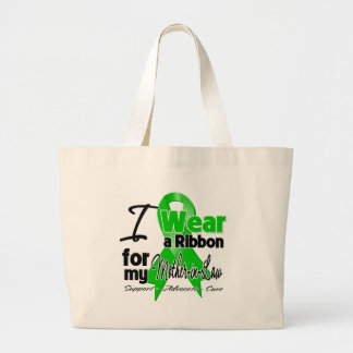 Llevo una cinta verde para mi suegra bolsa tela grande