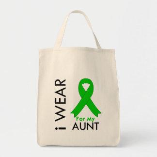 Llevo una cinta verde para mi tía bolsa de mano