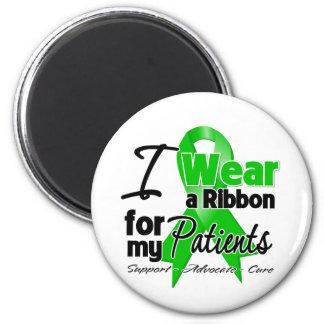 Llevo una cinta verde para mis pacientes imán redondo 5 cm