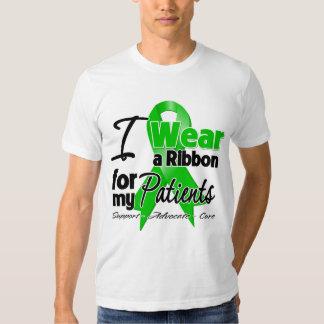 Llevo una cinta verde para mis pacientes playera