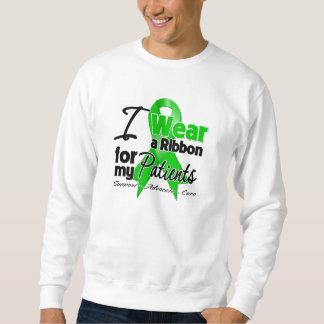 Llevo una cinta verde para mis pacientes sudadera