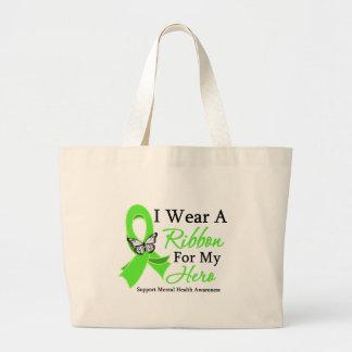 Llevo una conciencia de la salud mental del héroe  bolsas