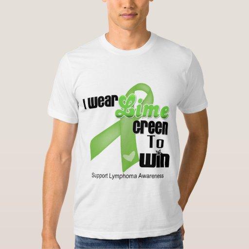 Llevo verde lima porque para ganar - linfoma playera