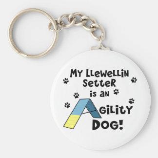 Llewellin Setter Agility Dog Basic Round Button Keychain