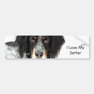 Llewellyn Setter Love Bumper Sticker