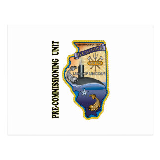 Llinois de SSN 786 PCU Tarjetas Postales