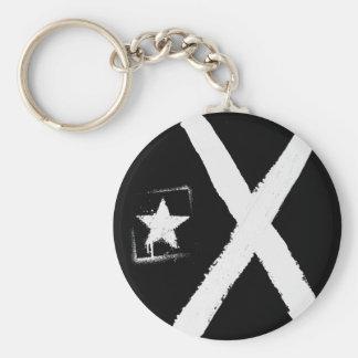 Lliures or morts (black flag) basic round button keychain