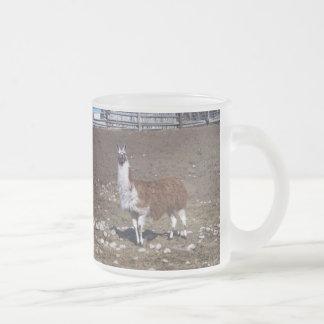 Lllama solitario taza de café