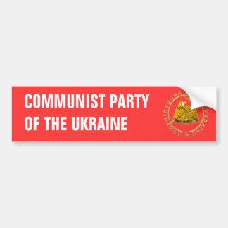 lLogo of the Communist Party of the Ukraine Bumper Sticker
