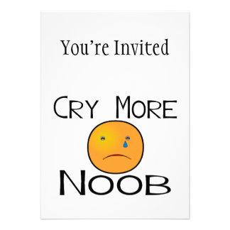 Llora más Noob Invitación Personalizada