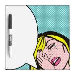 Llora tablero seco del borrado del arte pop de la tablero blanco