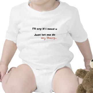 Lloraré si le necesito traje de bebé