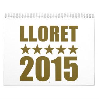 Lloret 2015 calendario de pared