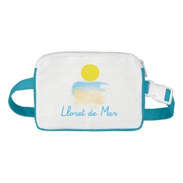 Beach Themed Lloret de Mar blue Cap-Sac Fanny Pack