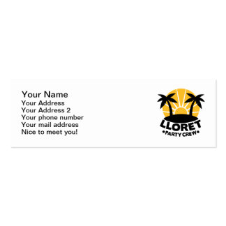 Lloret Party Crew Double-Sided Mini Business Cards (Pack Of 20)
