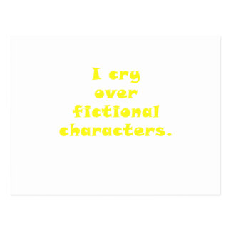 Lloro encima los caracteres ficticios postal