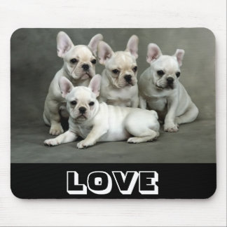 lLove Cute French Bulldog Puppy Dog Mousepad