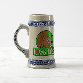 lLove Life 18 Oz Beer Stein