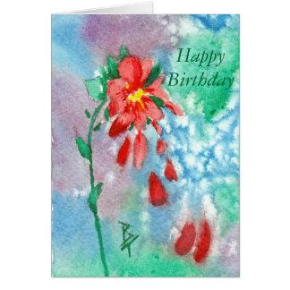 Llover aceo de los pétalos tarjeta de felicitación