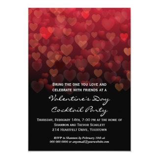 Llover al fiesta del día de San Valentín de los Invitación 12,7 X 17,8 Cm