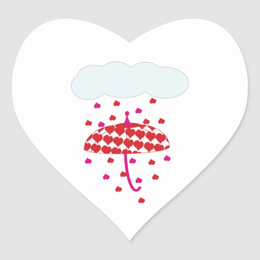 Llover corazones colcomanias de corazon personalizadas