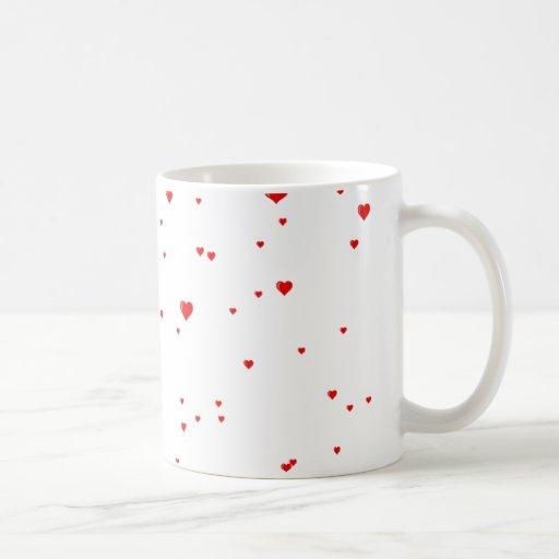 llover corazones taza de café