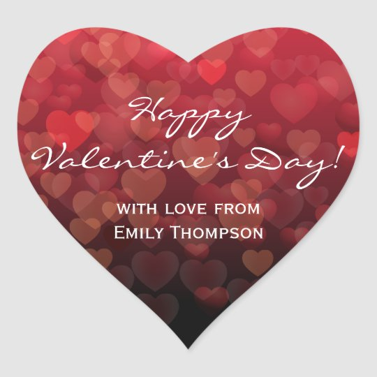 Llover día de San Valentín de los corazones Pegatina En Forma De Corazón