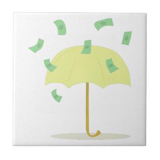 Llover el dinero azulejo cuadrado pequeño