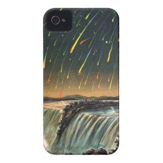 Llover el fuego durante caídas del agua iPhone 4 fundas
