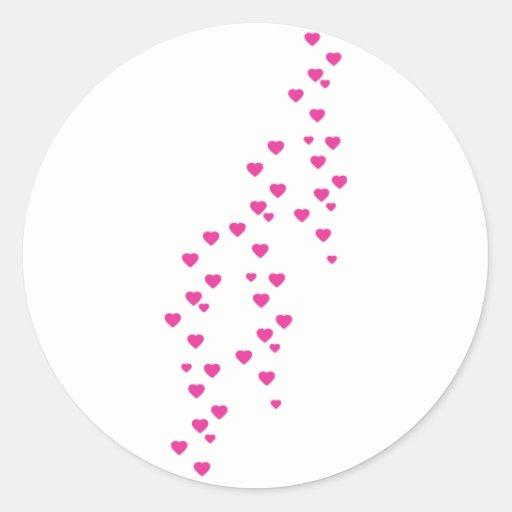 llover el icono de los corazones etiqueta