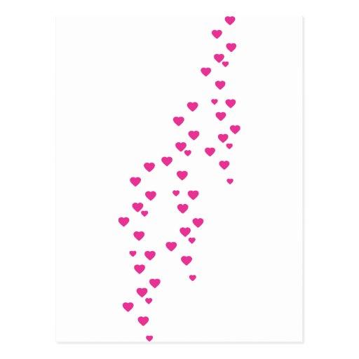 llover el icono de los corazones tarjetas postales