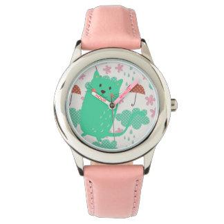 Llover gatos relojes de pulsera