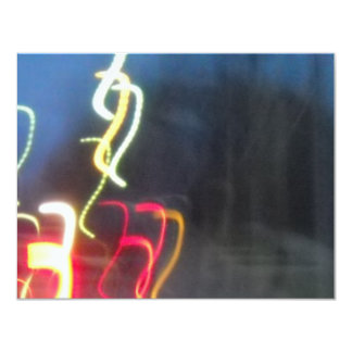 llover glowsticks invitación 10,8 x 13,9 cm