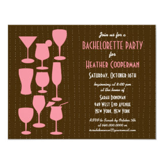 Llover la invitación del fiesta de Bachelorette de Invitación 10,8 X 13,9 Cm